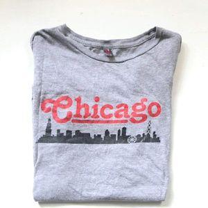 Vintage Chicago Skyline Souvenir Travel T Shirt